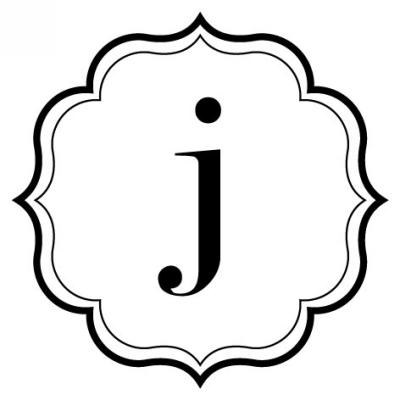 Monogram Scallop J Stamp Design Clip for Three Designing Women Stampers
