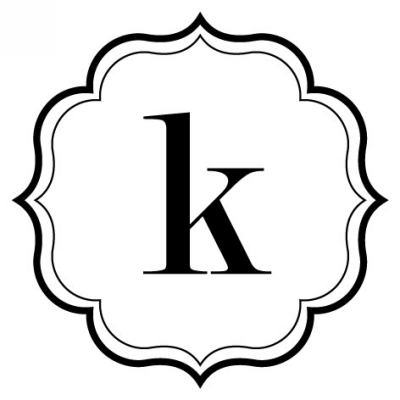 Monogram Scallop K Stamp Design Clip for Three Designing Women Stampers