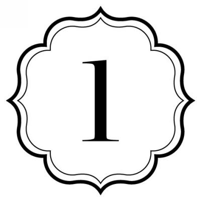 Monogram Scallop L Stamp Design Clip for Three Designing Women Stampers