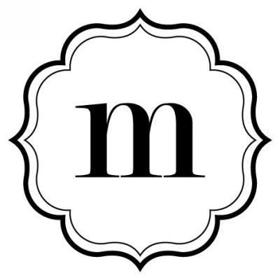Monogram Scallop M Stamp Design Clip for Three Designing Women Stampers