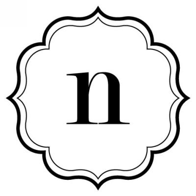 Monogram Scallop N Stamp Design Clip for Three Designing Women Stampers