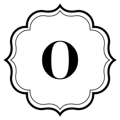 Monogram Scallop O Stamp Design Clip for Three Designing Women Stampers