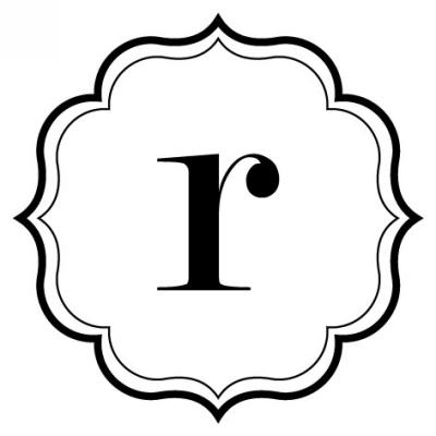 Monogram Scallop R Stamp Design Clip for Three Designing Women Stampers