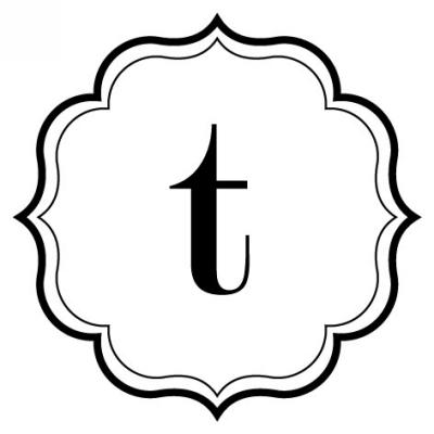 Monogram Scallop T Stamp Design Clip for Three Designing Women Stampers