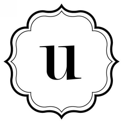 Monogram Scallop U Stamp Design Clip for Three Designing Women Stampers