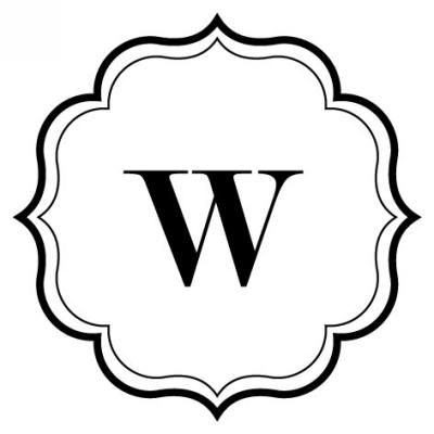 Monogram Scallop W Stamp Design Clip for Three Designing Women Stampers