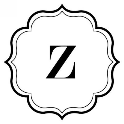 Monogram Scallop Z Stamp Design Clip for Three Designing Women Stampers