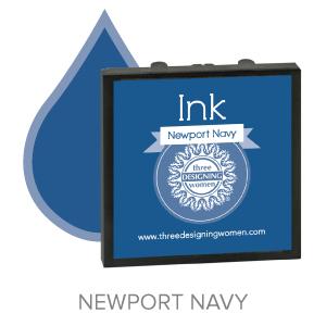 Newport Navy ink for Three Designing Women Stampers