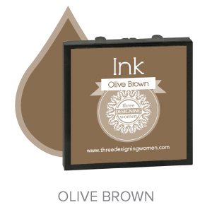 Olive Brown ink for Three Designing Women Stampers