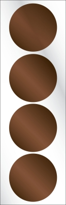 Chocolate Brown Seals for Three Designing Women Embossers