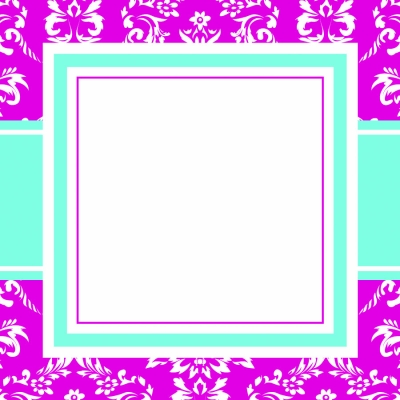Toile Pink Stickers by Three Designing Women