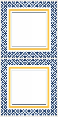 Kate Navy Stickers by Three Designing Women