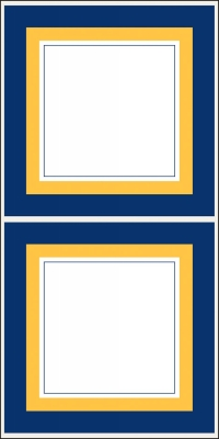 Newport Navy Stickers by Three Desigining Women