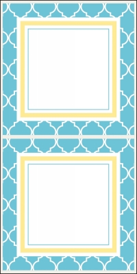 Madison Bright Blue Stickers by Three Designing Women