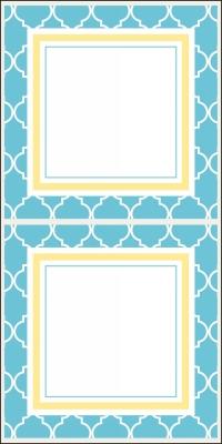 Madison Bright Blue Stickers by Three Designing Women