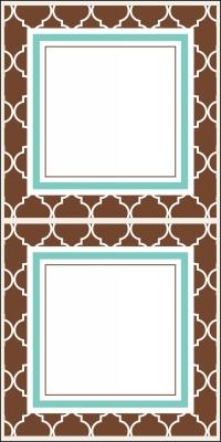 Madison Espresso Stickers by Three Designing Women
