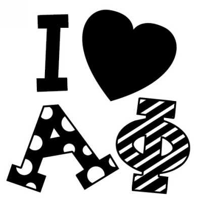 Sorority AP Symbol Stamp Design Clip for Three Designing Women Stampers