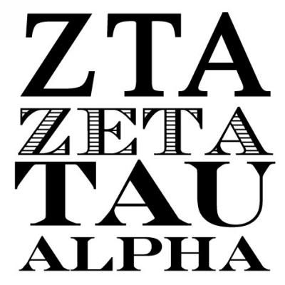 Sorority ZTA Greek Stamp Design Clip for Three Designing Women Stampers