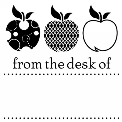 Teacher Desk Stamp Design Clip for Three Designing Women Stampers