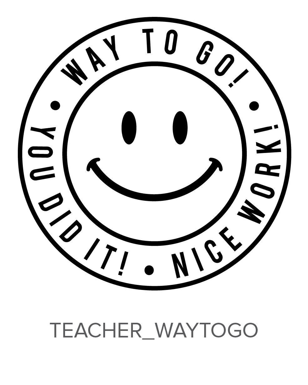 Teacher Way to Go Stamp Design Clip for Three Designing Women Stampers