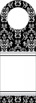 Toile Black Bottle Tags by Three Designing Women