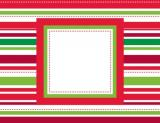 Candy Cane Blue Foldover Notes by Three Designing Women
