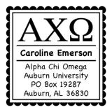 Alpha Chi Omega College Sorority Self-Inking Stamp by Three Designing Women