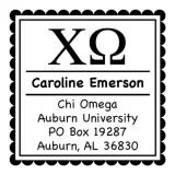 Chi Omega College Sorority Self-Inking Stamp by Three Designing Women