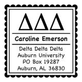 Delta Delta Delta Sorority Self-Inking Stamp by Three Designing Women