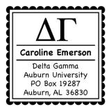 Delta Gamma Sorority Self-Inking Stamper by Three Designing Women
