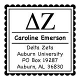Delta Zeta Sorority Self-Inking Stamper by Three Designing Women