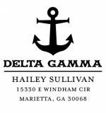 Delta Gamma Sorority Custom Self-Inking Stamper by Three Designing Women