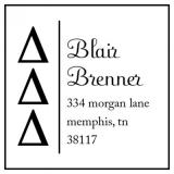 Delta Delta Delta Sorority Stamp by Three Designing Women