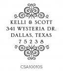 Custom Self-Inking Address Stamper by Three Designing Women CSA10010S