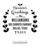 Custom Self-Inking Holiday Stamper by Three Designing Women CSH10004S