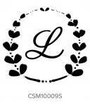 Custom Self-Inking Monogram Stamper by Three Designing Women CSM10009S