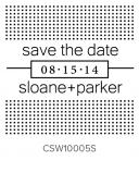 Custom Self-Inking Wedding Stamper by Three Designing Women CSW10005S