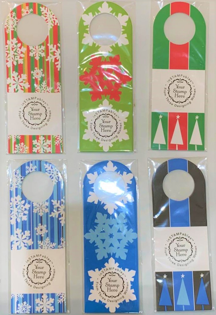 Holiday wine tags by Three Designing Women