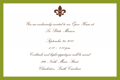 Fluer de lis Invitation Personalized by Boatman Geller