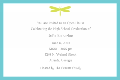 Dragonfly Invitation Personalized by Boatman Geller