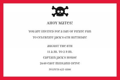 Skull Invitation Personalized by Boatman Geller