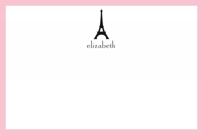 Eiffel Tower Stationery Personalized by Boatman Geller