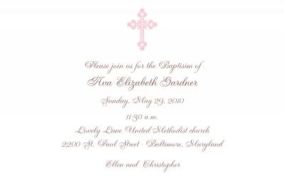 Ornate Cross Invitation Personalized by Boatman Geller