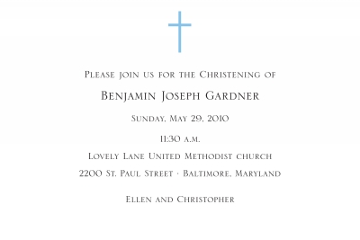 Cross Invitation Personalized by Boatman Geller