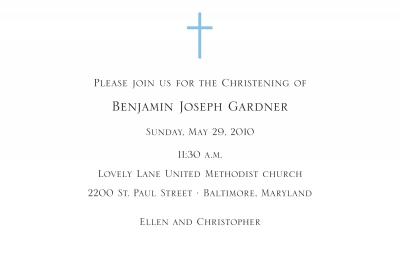 Cross Invitation Personalized by Boatman Geller