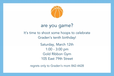 Basketball Invitation Personalized by Boatman Geller