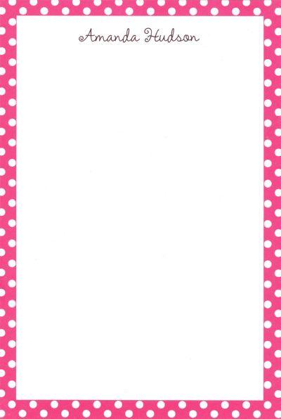 Pink Polka Dot Notepad