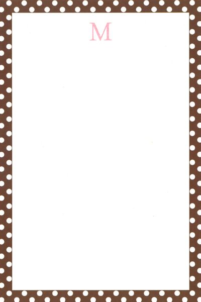 Boatman Geller Personalized Brown Polka Dot Notepad Discounted