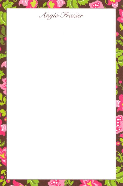 Brown Floral Notepad
