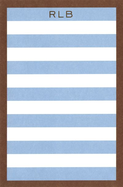 Blue and Brown Border Stripe Notepad